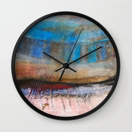 Solid Ground Blue Wall Clock