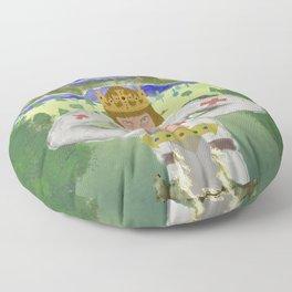 King Arthur Extracts Excalibur Floor Pillow