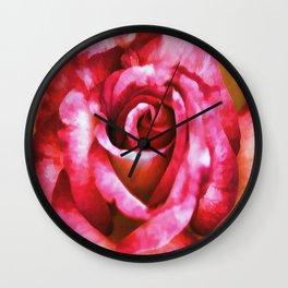 Painted Rose Wall Clock