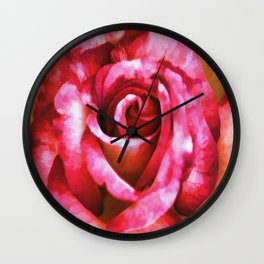 Painted Rose Wall Clock