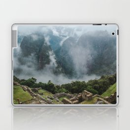 Panoramic view of the ancient Inca ruins of Machu Picchu & Andes mountains in the morning Laptop & iPad Skin
