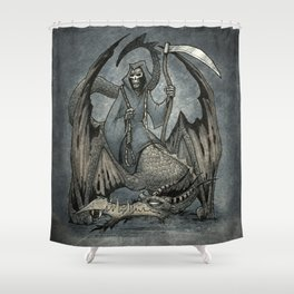The Reaper's Ride Shower Curtain