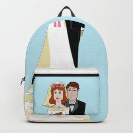 A Wedding Cake Topper Backpack