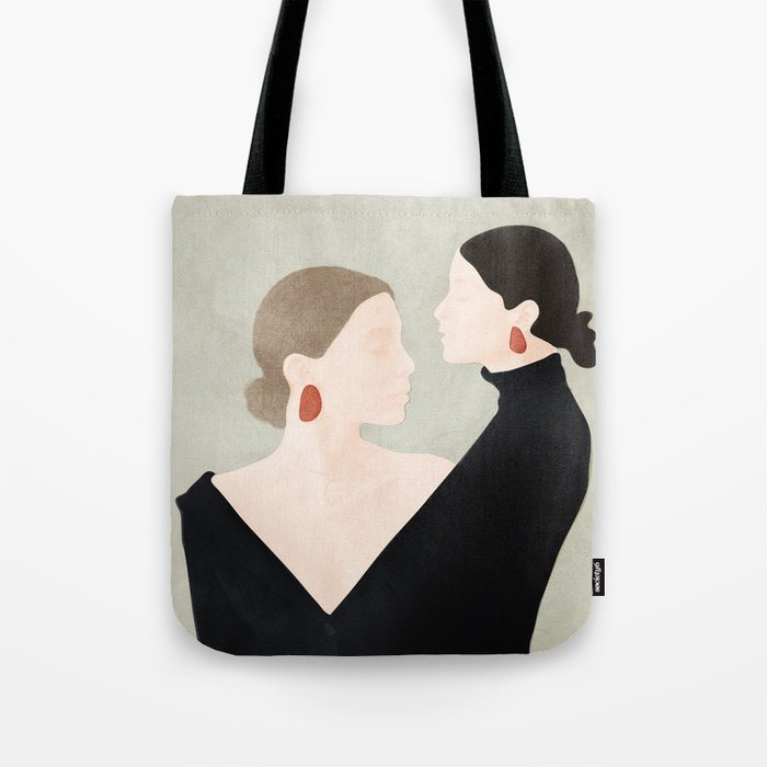 Aligned Model Flow Tote Bag