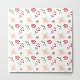 Modern Flower Pattern Design Metal Print