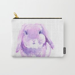 Pink & Purple Bunny Watercolor Carry-All Pouch