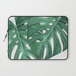 Monstera Tropical Leaf Painting Laptop Sleeve