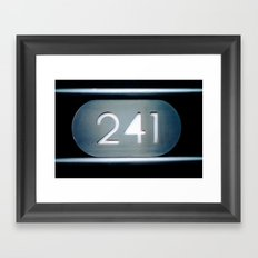 241 Cut Metal Sign Framed Art Print