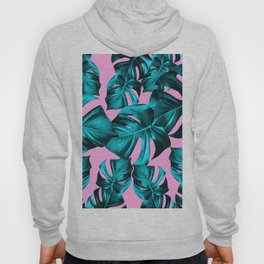 Monstera Leaves Summer Vibes Pattern #1 #tropical #decor #art #society6 Hoody