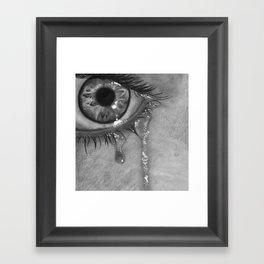 Life is moking me Framed Art Print