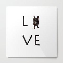 French Bulldog Love Art Print Metal Print