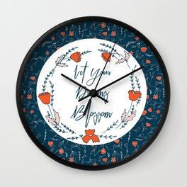 Dreams Blossom Wall Clock