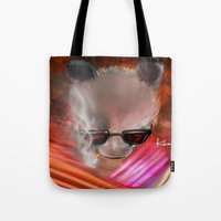 infamous Tote Bags featuring infamous by kobymartin