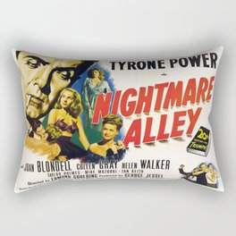 Nightmare Alley, vintage horror movie poster Rectangular Pillow