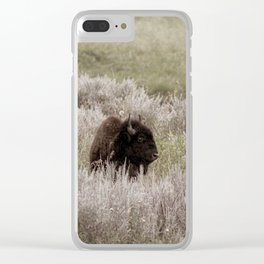 Buffalo in the Sagebrush Clear iPhone Case