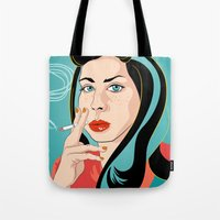 ali Tote Bags featuring Ali by AvalonClare