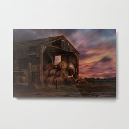 The Bale Barn Metal Print