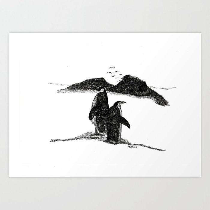 Penguins Kunstdrucke