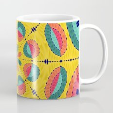 Textured tropical mandala Coffee Mug