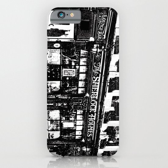 Sherlock Holmes Pub Sketch iPhone & iPod Case