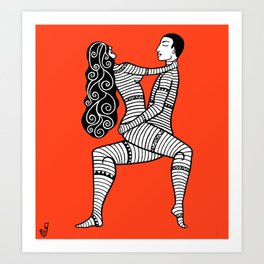 Linear Love IV Art Print