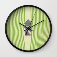 samurai Wall Clocks featuring SAMURAI by Ociaj