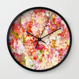 FLoral Meditation Wall Clock
