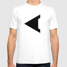 C - Alphabet White SMALL Mens Fitted Tee
