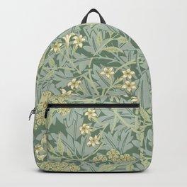 William Morris vintage floral pattern Backpack