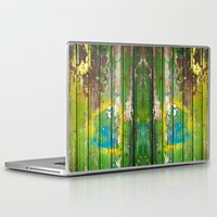 1d Laptop & iPad Skins featuring Wood Texture 1D by Robin Curtiss