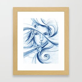 Her eyes_2 Framed Art Print