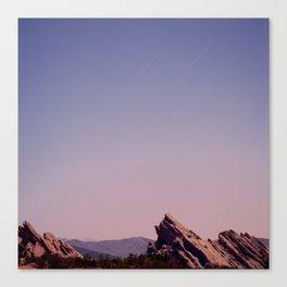 Vazquez Rocks Moonlight Canvas Print