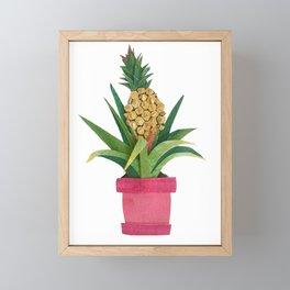 Pineapple Fruit Framed Mini Art Print