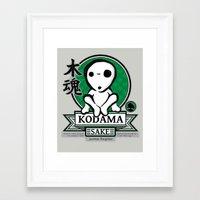 kodama Framed Art Prints featuring Kodama Sake by adho1982