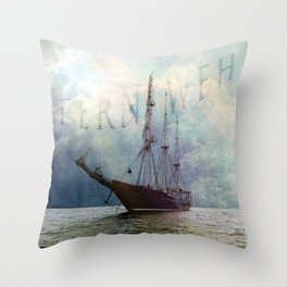 fernweh for distant lands [expedition to Galapagos] v2 Throw Pillow