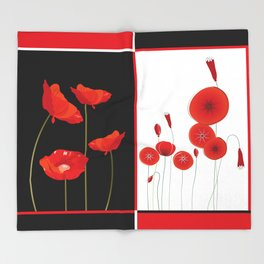 Flaming Poppies Throw Blanket