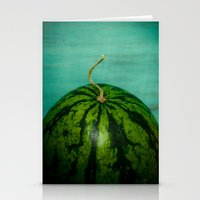 watermelon Stationery Cards featuring Watermelon by Olivia Joy St.Claire - Modern Nature / T