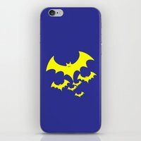bat iPhone & iPod Skins featuring Bat by Spooky Dooky