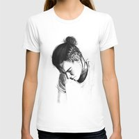 harry styles T-shirts featuring Braids by Judit Mallol