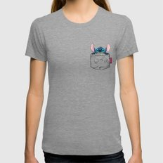 imPortable Stitch... SMALL Womens Fitted Tee Tri-Grey