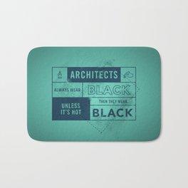 Architects wear black Bath Mat