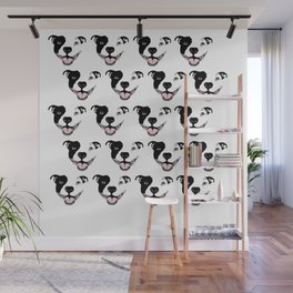 For the love of PIT BULLS. Wall Mural