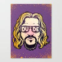 the dude Canvas Prints featuring Dude by Beery Method