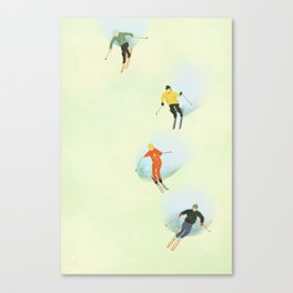 Skiing at High Speeds Canvas Print