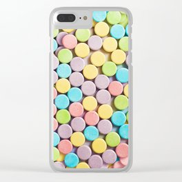 Sweet Tarts Sweet and Sour Candy Photo Pattern Clear iPhone Case