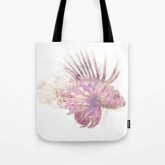 Lets draw a Lionfish Tote Bag