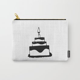 Monochrome birthday cake Carry-All Pouch