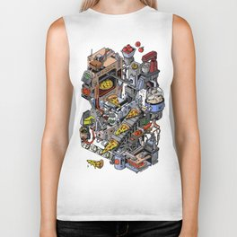 Pizza Machine Biker Tank