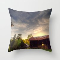 tennessee Throw Pillows featuring Tennessee Sunset by Terbo
