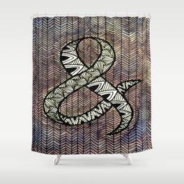 Purple Ampersand Shower Curtain